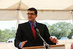 Administrator Padalino speaking at the Ozark Mountain Regional Public Water Authority Treatment Plant in Arkansas. The opening marked completion of the 500th water and environmental project completed by USDA through the Recovery Act.  USDA photo