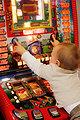 Excited gambler