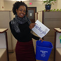 EPA Intern Adell Recycles
