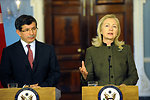 Secretary Clinton Meets With Foreign Minister Davutoglu of Turkey