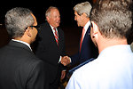 Secretary Kerry Is Greeted By Ambassador Shannon