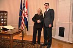 Secretary Clinton Shakes Hands With Milanovic