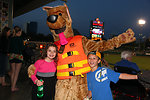 Bobber shares water safety tips with River Cats fans.