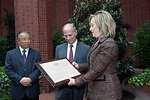 Secretary Clinton and Chinese State Councilor Dai Bingguo Present Jeffrey Bader With the Secretary's Distinguished Service Award