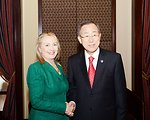 Secretary Clinton Meets With UN Secretary-General Ban Ki-moon