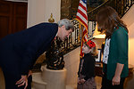 Secretary Kerry Meets the Daughter of an Embassy Employee