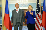 Secretary Clinton Meets With Czech Republic Foreign Minister Schwarzenberg