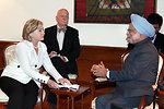 Secretary Clinton Visits Indian Prime Minister