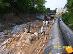 (Earlier photo) August 2004, Early Housatonic cleanup '1.5 Mile Reach', Pittsfield, MA
