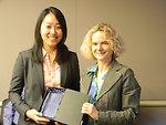 Sarah Pak and NIDA Director Dr. Nora Volkow