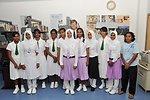 Deputy Secretary Steinberg Poses for a Photo With a Maldvian Girls Soccer Team
