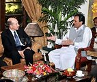 Assistant Secretary Johnson Meets With Chief Minister Ameer Haidar Khan Hoti