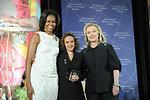 Secretary Clinton and First Lady Obama With 2012 IWOC Award Winner Jineth Bedoya Lima of Colombia