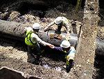 Overhead Worker - Enbridge Oil Spill pipeline removal