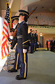 California National Guard Honor Guard retire the colors
