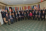 Secretary Kerry Poses for a Photo With Members of the EU28