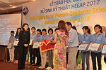 KC Choe of USAID Vietnam presents Female Vocational Student Scholarships