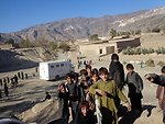 Childre gathered at MHUs camp in Hamza Khel Mohmand Agency dated 12 April 2013