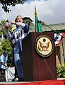 Chargé d'Affaires Koplovsky Enjoys U.S. National Day Commemoration