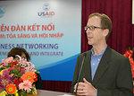 USAID Vietnam Mission Director, Joakim Parker, speaks at the seminar for female entrepreneurs