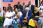 Secretary Kerry Plays With Little Boy at HIV Clinic in Ethiopia