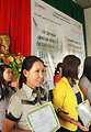 Teachers in Kon Tum receives certificates in recognition of their improved skills in art, linguistics, mathematics, nutrition and developing teaching materials