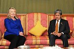 Secretary Clinton Meets With Brunei's Foreign Minister Prince Mohamed Bolkiah