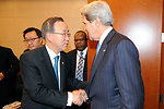 Secretary Kerry Meets With UN  Secretary-General Ban Ki-moon at the African Union Summit