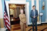 Secretary Clinton Shows Her Gratitude to Assistant Secretary Blake