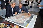 Jordanian Foreign Minister Judeh Shows Secretary Kerry a Map of the Za'atri Refugee Camp
