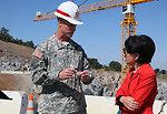 First concrete ceremony for Folsom Dam spillway