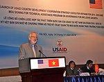 U.S. Ambassador David Shear speaks at the ceremony.