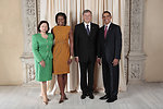 U.S. President Barack Obama and First Lady Michelle Obama With World Leaders at the Metropolitan Museum in New York