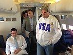 Secretary Kerry En Route to Rome
