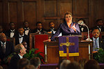 March 4, 2012 Administrator Jackson speaks to congregation at historic Brown Chapel AME Church