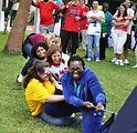 Americans and Zambians Compete in a Tug of War Contest