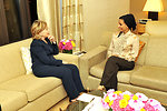 UNGA 2009: Secretary Clinton Meets With Consort of His Highness the Amir of Qatar
