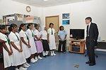 Deputy Secretary Steinberg Speaks With a Maldivian Girls Soccer Team
