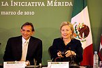 Secretary Clinton With U.S. Ambassador to Mexico Carlos Pascual