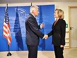 Secretary Clinton Meets With European Parliament President Buzek