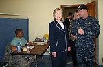 Secretary Clinton Visits Comfort Clinic in Haiti