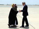 Secretary Kerry Is Greeted By Omani Foreign Minister Yussef bin Alawi bin Abdullah