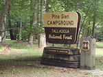 Talladega  campground sign