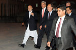 Secretary Kerry and Afghan President Karzai Head to a Working Dinner