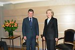 Secretary Clinton Meets With Colombian Presidential Candidate Juan Manuel Santos