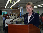 Secretary Clinton Visits Inter-American Woven Factory