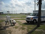 Emergency response vehicle and air monitoring station