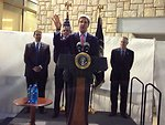 Secretary Kerry Introduces President Obama at Consulate Jerusalem