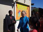 Secretary Clinton Visits Victoria Mxenge Housing Development