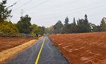 A view of the newly repaved American River Parkway trail
